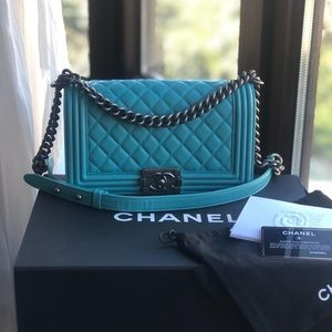 CHANEL Bags - Chanel Quilted Old Medium Lambskin Le Boy Bag